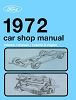1972 Ford Car Shop Manual 5 Volumes