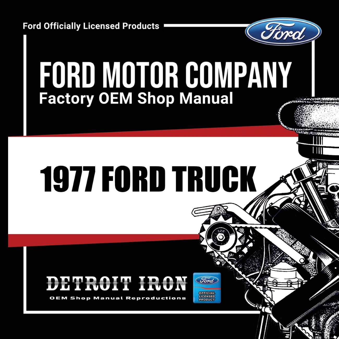 1977 Ford Truck Factory Oem Shop Manuals On Cd Detroit Iron