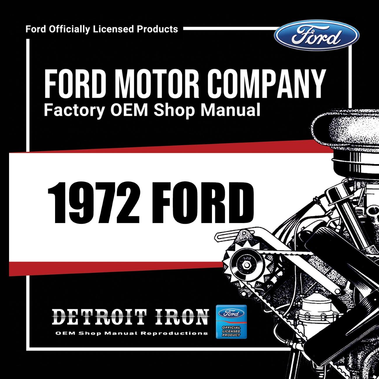 1972 Ford Car Factory Oem Shop Manuals Cd Detroit Iron