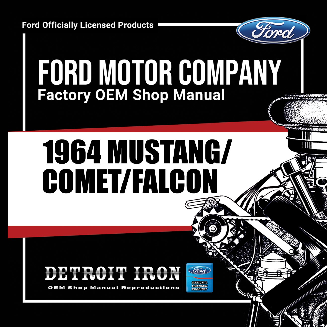 1964 Mustang Falcon Comet Factory Oem Shop Manuals On Cd
