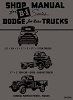 1948 - 1949 Dodge Truck B-1 Series Shop Manual