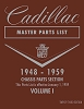 1948 - 1959 Cadillac Master Parts List - 2 Vol Set