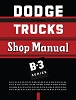 1951 - 1952 Dodge Truck B3 Shop Manual