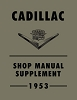 1953 Cadillac Shop Manual Supplement