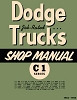 1954 - 1955 Dodge Truck C-1 Shop Manual