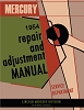 1954  Mercury Repair and Adjustment Manual