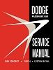1956 Dodge Car Service Manual