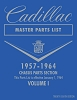 1957 - 1964 Cadillac Master Parts List - 2 Vol Set