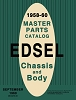 1958-1960 Edsel Master Parts Catalog