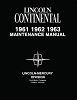 1961-1963 Lincoln Contenintal Maintenance Manual