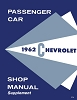 1962 Chevrolet Passenger Car Shop Manual Supplement