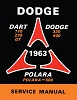 1963 Dodge Dart Polara Shop Manual