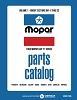 1965 Mopar Car Body & Chassis Parts Catalog