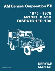 1975 - 1976 Jeep Model DJ-5D Dispatcher Service Manual