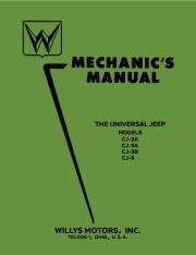 1946 - 1955 Willys Jeep CJ Mechanics Manual