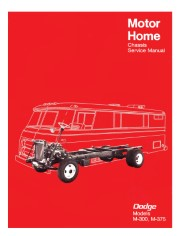 1968 - 1970 Dodge Motor Home Chassis Shop Manual