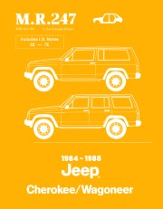 1984 - 1988 Jeep Cherokee / Wagoneer Bodywork Shop Manual - M.R. 247