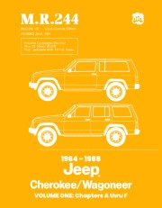 1984 - 1988 Jeep Cherokee / Wagoneer Shop Manual - M.R. 244