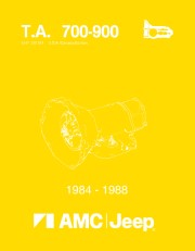1984 - 1988 Jeep 700 / 900 Series Transmission Component Service Manual