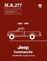 1986 - 1988 Jeep Comanche Service Shop Manual - M.R. 277