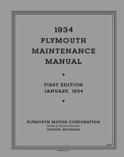 1934 Plymouth Maintenance Manual