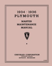 1934 - 1936  Plymouth Master Maintenance Manual
