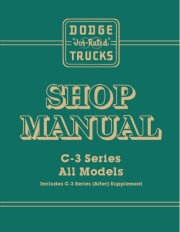 1955-56 Dodge C3 Truck Shop Manual Supplement
