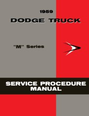 1959 Dodge Truck Shop Manual Supplement