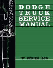 1960 Dodge Truck P Series Shop Manual