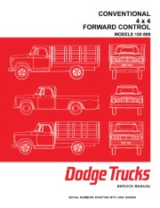 1966 Dodge Truck 100-800 Shop Manual