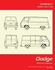 1968 - 1970 Dodge A-100 & A-108 Van Shop Manual