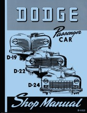 1941 - 1948 Dodge Car Shop Manual