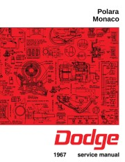 1967 Dodge Polara and Monaco Shop Manual