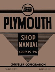1939 Plymouth Shop Manual P-7, P-8