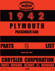 1942 Plymouth Passenger Car Parts List