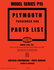 1946-1947 Plymouth Parts Catalog - Model Series P15