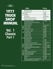 1977 Ford Truck Shop Manual - 5 Volumes