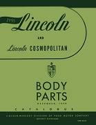 1950 Lincoln Body Parts Catalog