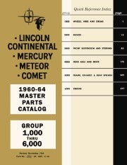 1960 - 1964 Lincoln Mercury Master Parts Catalog