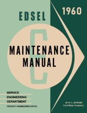1960 Edsel Shop Manual