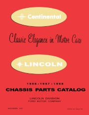 1956 - 1958 Lincoln Chassis Parts Catalog