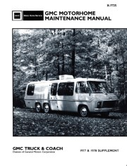 1977 - 1978 GMC Motorhome Maintenance Manual Supplement - X-7725
