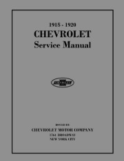 1915 - 1920 Chevrolet Car, Truck Shop Manual