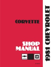 1981 Chevrolet Corvette Shop Manual