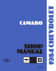 1984 Chevrolet Camaro Shop Manual