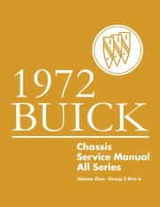 1972 Buick Chassis Service Manual - All Series