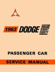1963 Dodge Custom 880 Shop Manual