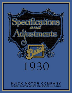 1930 Buick Specifications and Adjustments