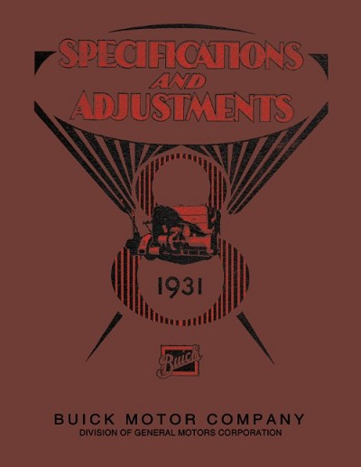 1931 Buick Specifications and Adjustments