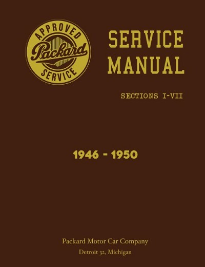 1946 - 1950 Packard Service Manual